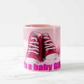 Zapatos de bebé lindos de la niña taza de café de dos colores