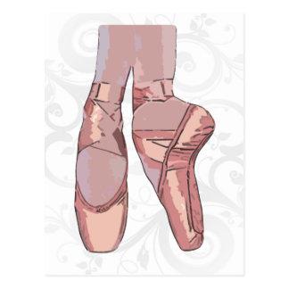Zapatos de dedo del pie de los deslizadores del ba tarjetas postales