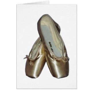 Zapatos de dedo del pie Notecards Tarjeta Pequeña