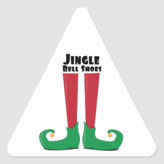 Zapatos de Jingle Bell Pegatina Triangular