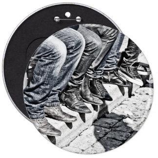 Zapatos de la acera pin redondo 15 cm