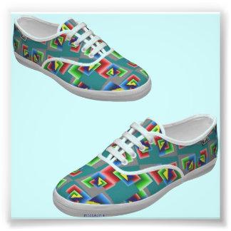 Zapatos de la caja de color impresion fotografica