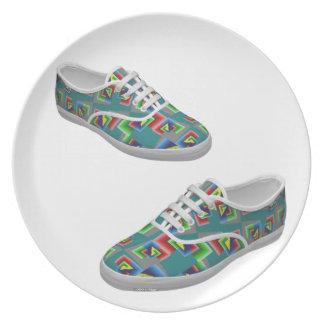 Zapatos de la caja de color plato para fiesta
