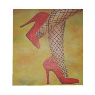 Zapatos de la chuchería dos blocs de papel