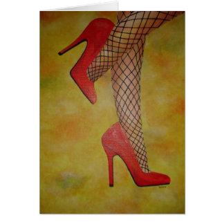Zapatos de la chuchería dos tarjeta de felicitación