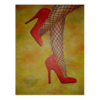 Zapatos de la chuchería dos tarjeta postal