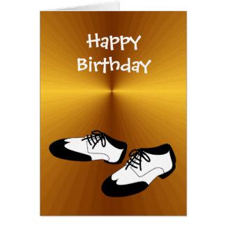 Zapatos de la danza del oscilación del feliz tarjeta de felicitación