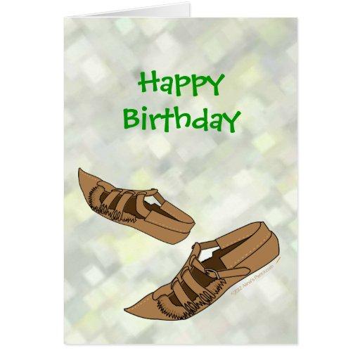Zapatos de la danza popular de Opanke del feliz cu Tarjeton