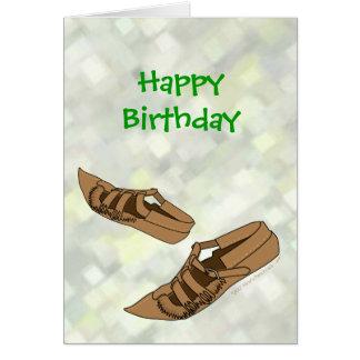 Zapatos de la danza popular de Opanke del feliz Tarjeta De Felicitación