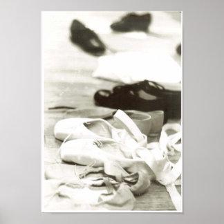 Zapatos de la danza póster