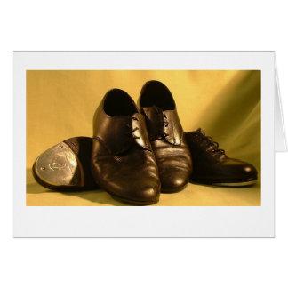 Zapatos de la danza tarjeta de felicitación