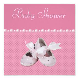 Zapatos de la fiesta de bienvenida al bebé, ropa y invitación 13,3 cm x 13,3cm
