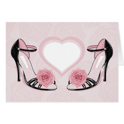zapatos de la moda felicitación