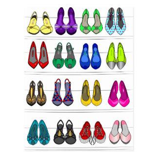 Zapatos de la moda postales
