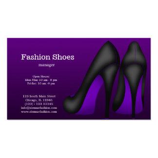 Zapatos de la moda tarjetas de visita