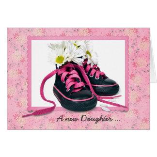 Zapatos de la niña tarjeta de felicitación