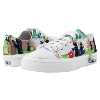 Zapatos de la pintura de Labradors de la diversión Zapatillas