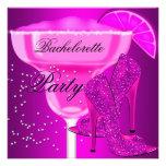Zapatos de la púrpura de las rosas fuertes del fie invitacion personalizada