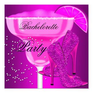 """Zapatos de la púrpura de las rosas fuertes del invitación 5.25"""" x 5.25"""""""