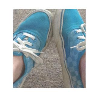 zapatos de las furgonetas azules bloc de notas
