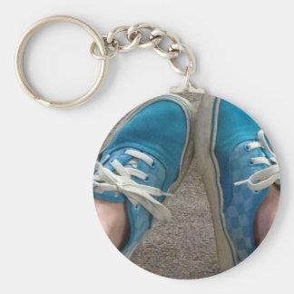 zapatos de las furgonetas azules llavero redondo tipo pin