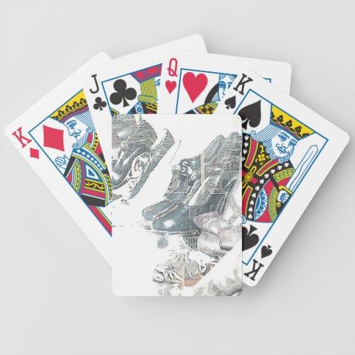 ZAPATOS de las tarjetas que juegan Barajas De Cartas