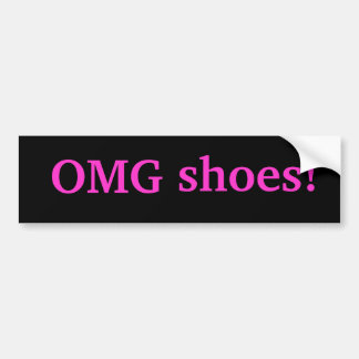 ¡Zapatos de OMG! Pegatina Para Auto