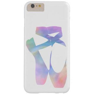 Zapatos de Pointe del ballet del arco iris Funda Barely There iPhone 6 Plus