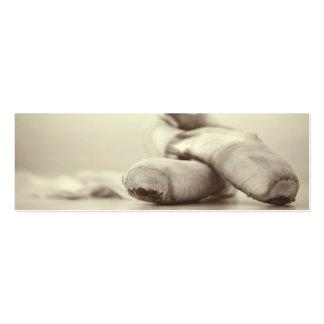 Zapatos de Pointe del ballet en la plantilla de Tarjetas De Visita Mini