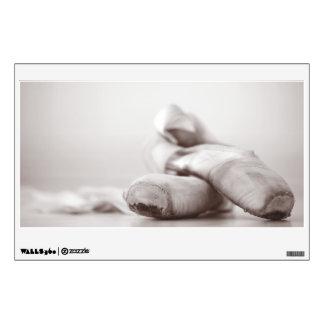 Zapatos de Pointe del ballet en la plantilla de Vinilo Adhesivo