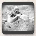 Zapatos de Pointe en la playa Posavasos De Bebidas