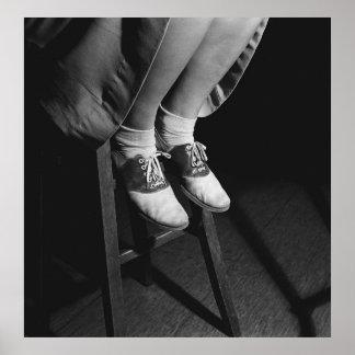 Zapatos de silla de montar: 1934 póster