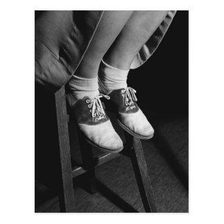Zapatos de silla de montar 1934 tarjeta postal