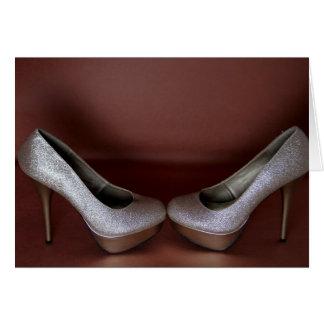 Zapatos de tacón alto de la moda tarjeta de felicitación