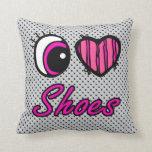 Zapatos del amor del corazón I del ojo de Emo