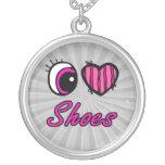 Zapatos del amor del corazón I del ojo de Emo Grimpola Personalizada