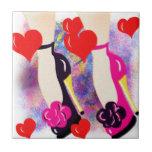 Zapatos del amor - regalos y accesorios lesbianos  azulejos cerámicos