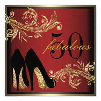 Zapatos del baile - 50.a invitación fabulosa del