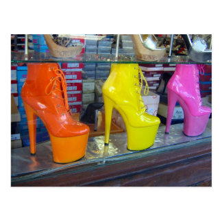 Zapatos del bulevar de Hollywood Postal