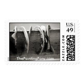 Zapatos del caballo sellos postales