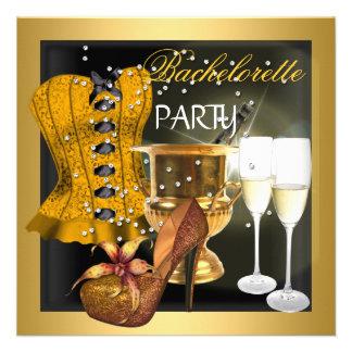 Zapatos del corsé del negro del oro del fiesta de  invitacion personalizada