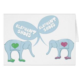 Zapatos del elefante tarjeta