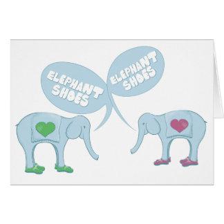 Zapatos del elefante tarjeta de felicitación