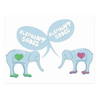 Zapatos del elefante postal