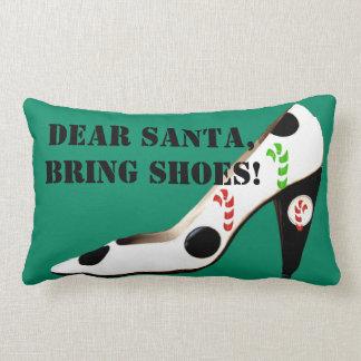Zapatos del navidad de Papá Noel Cojín
