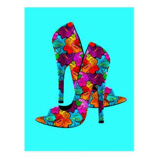 Zapatos del tacón alto de la diversión del verano postales