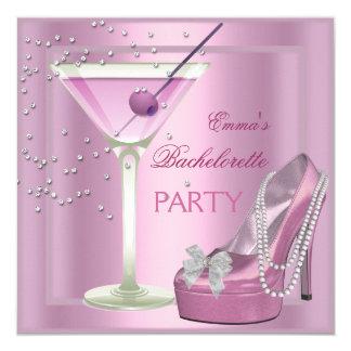 """Zapatos del tacón alto del rosa del fiesta de invitación 5.25"""" x 5.25"""""""