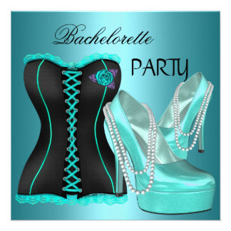 Zapatos del talón del azul del trullo del fiesta d invitación personalizada