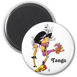 Zapatos del tango - diseños divertidos de la avest imán redondo 5 cm
