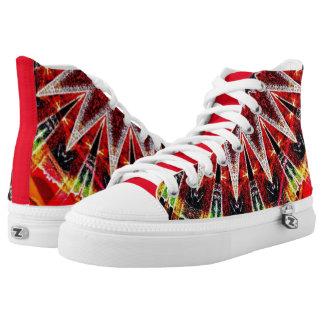 Zapatos del top del alto de PlasmaBlasts X Zipz, Zapatillas